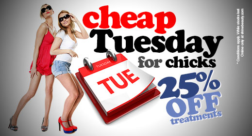 Cheap Tuesday 25% OFF