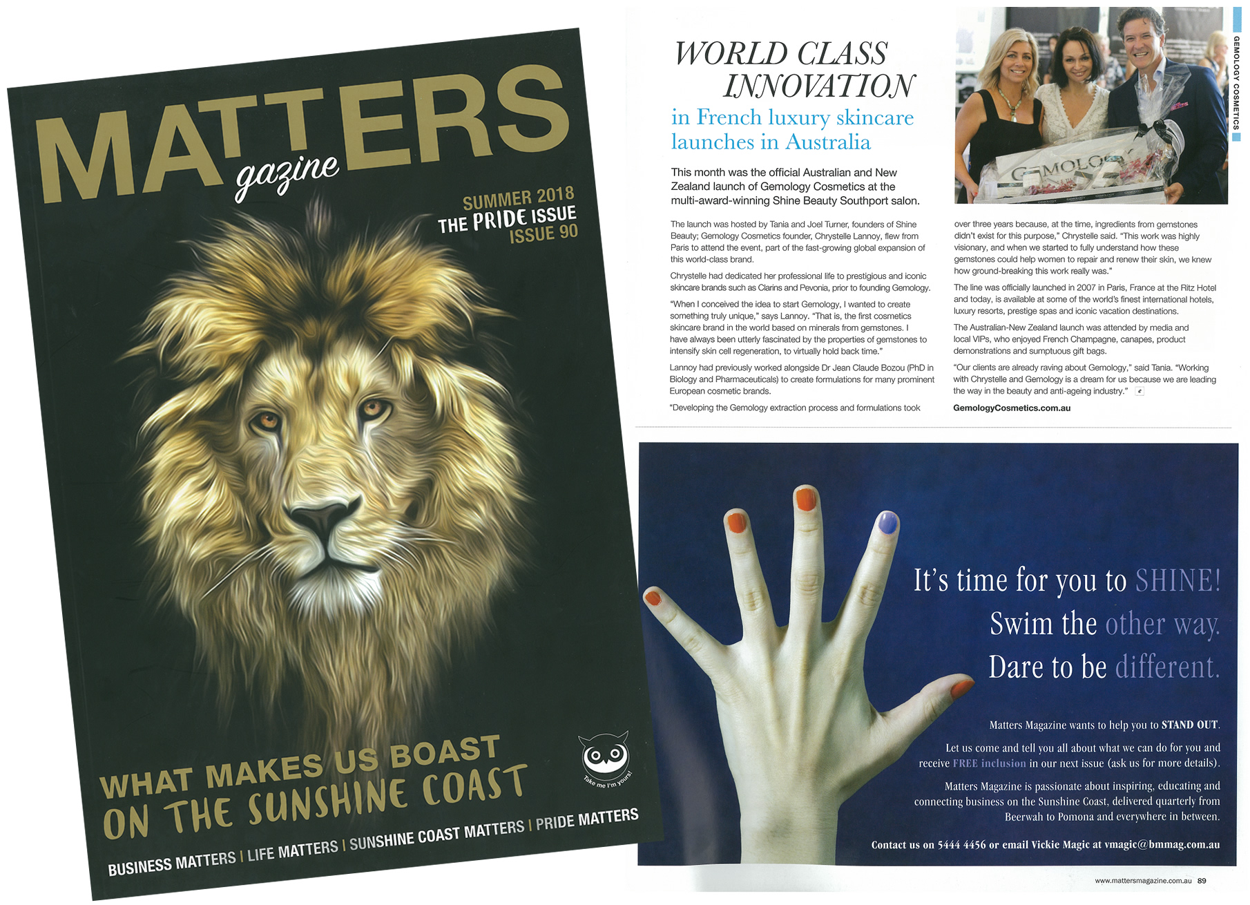 Gemology launch matters magazine