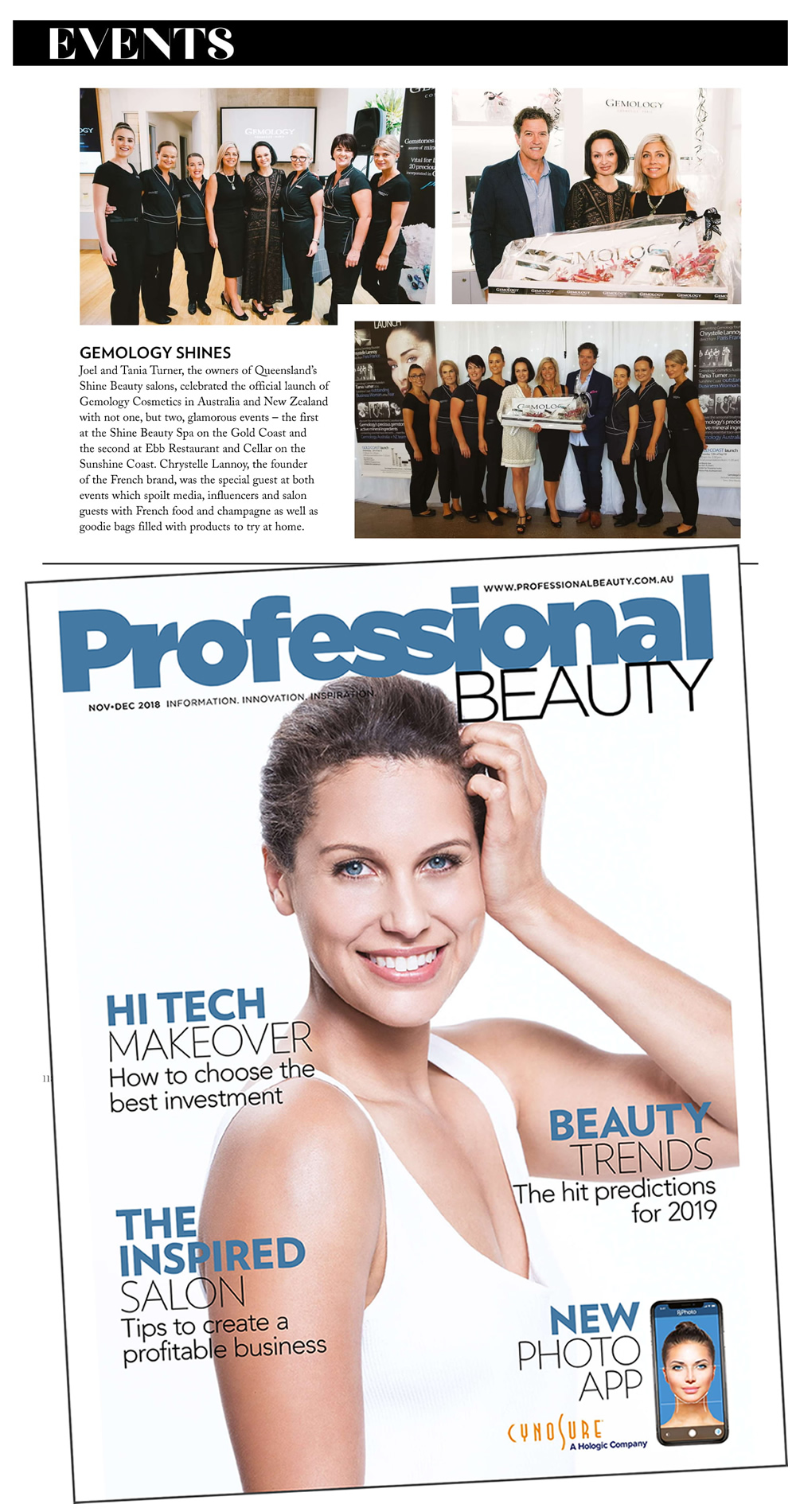 Gemology Shines Professional Beauty Magazine