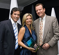Joel and Tania Turner owners of Shine, and Peter Atkinson from the Sunshine Coast Daily